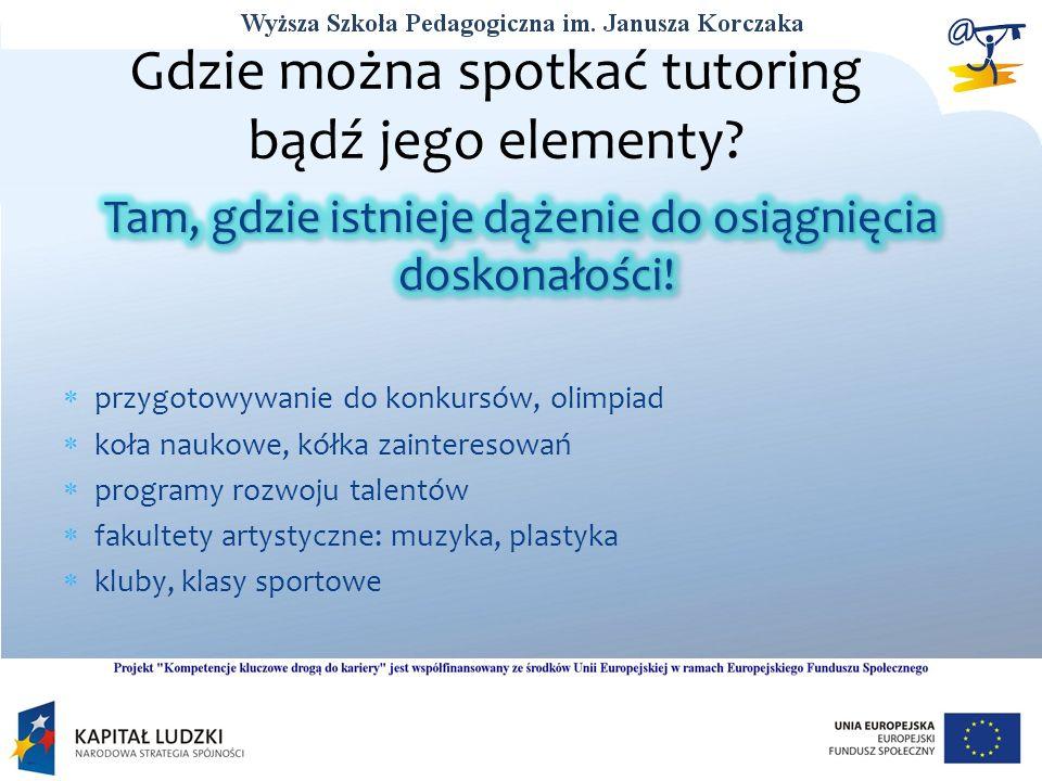 Gdzie można spotkać tutoring bądź jego elementy