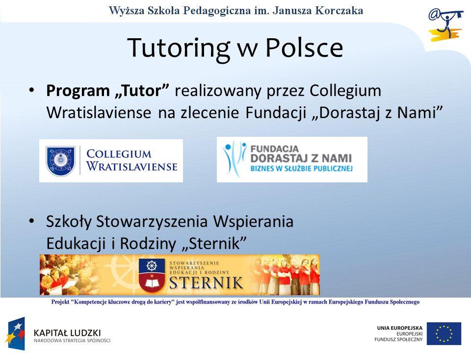 """Tutoring w Polsce Program """"Tutor realizowany przez Collegium Wratislaviense na zlecenie Fundacji """"Dorastaj z Nami"""