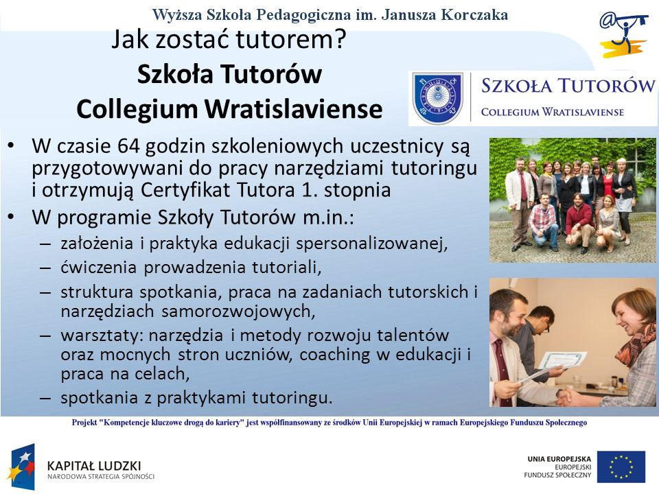 Jak zostać tutorem Szkoła Tutorów Collegium Wratislaviense
