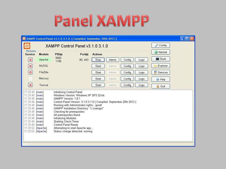 Panel XAMPP