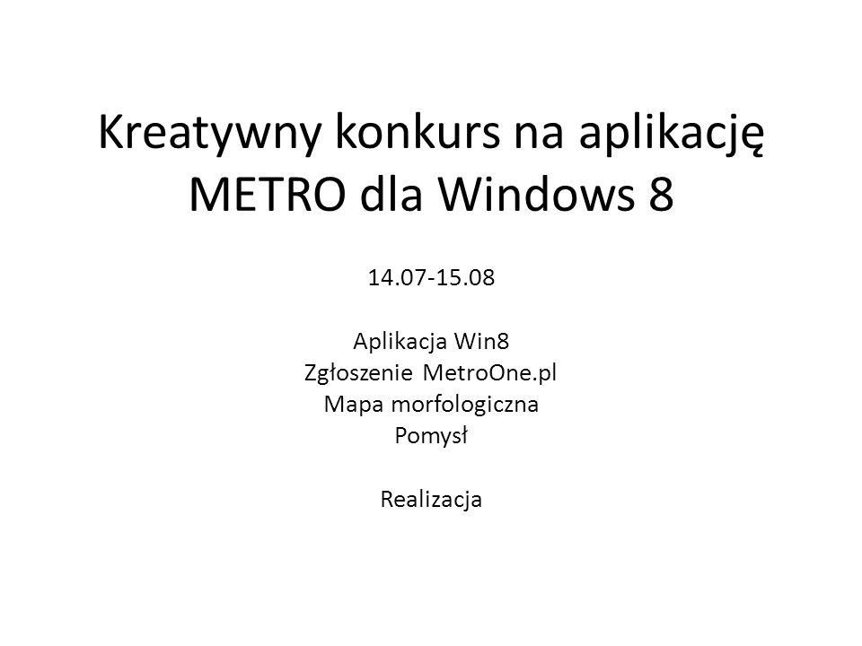 Kreatywny konkurs na aplikację METRO dla Windows 8