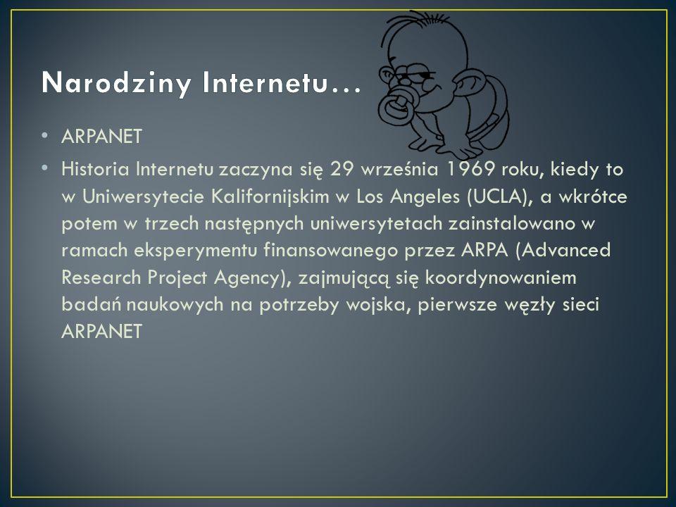 Narodziny Internetu… ARPANET