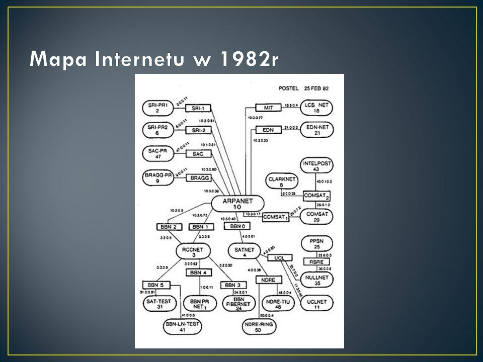 Mapa Internetu w 1982r