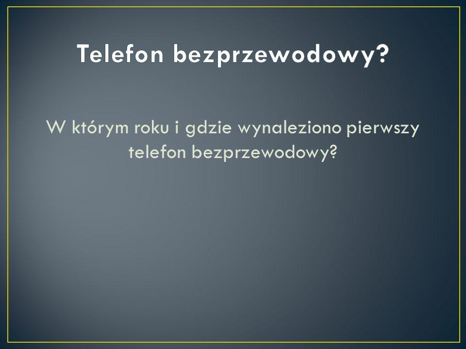 Telefon bezprzewodowy