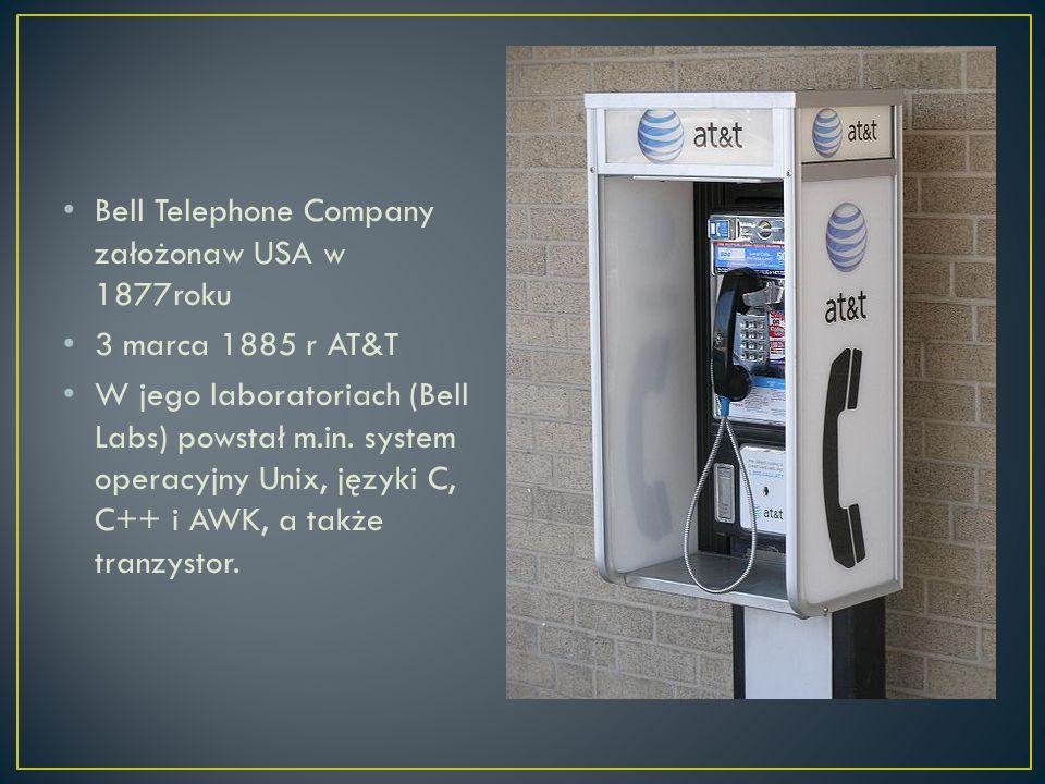 Bell Telephone Company założonaw USA w 1877roku