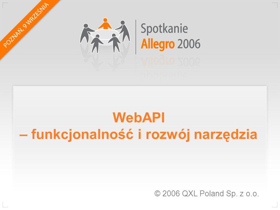 WebAPI – funkcjonalność i rozwój narzędzia
