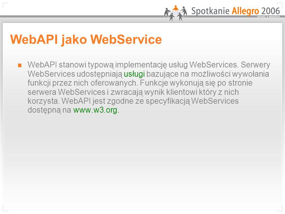 WebAPI jako WebService