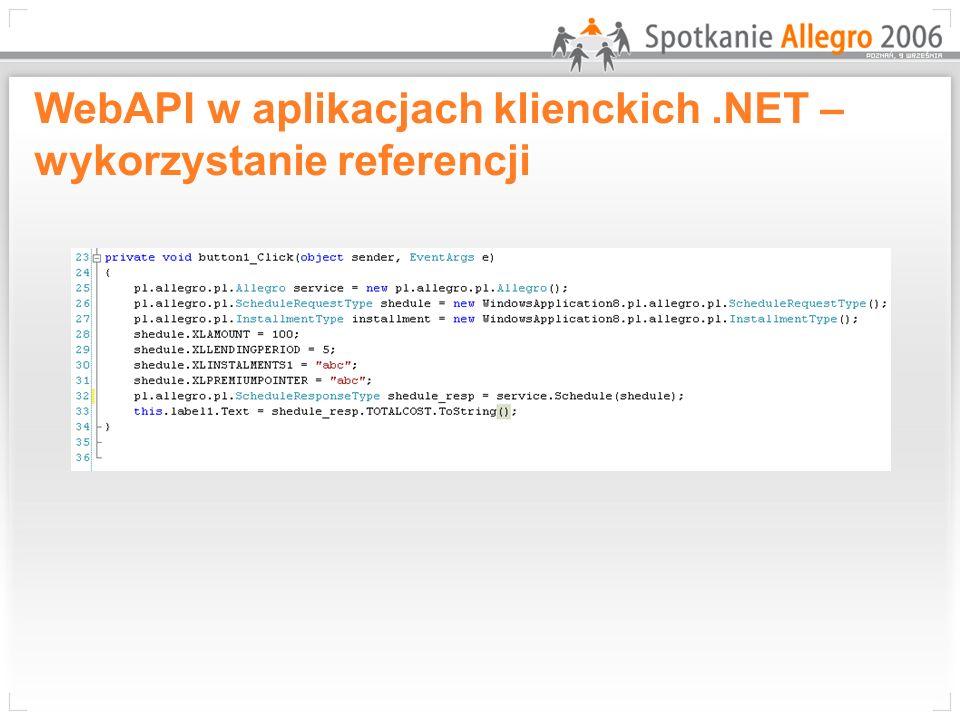 WebAPI w aplikacjach klienckich .NET – wykorzystanie referencji