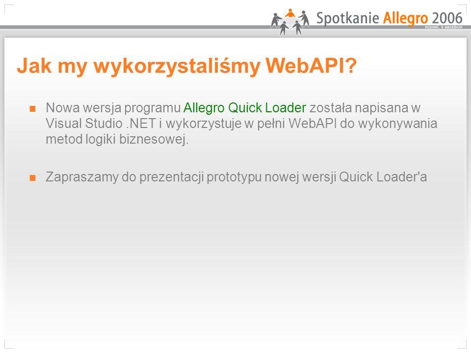 Jak my wykorzystaliśmy WebAPI