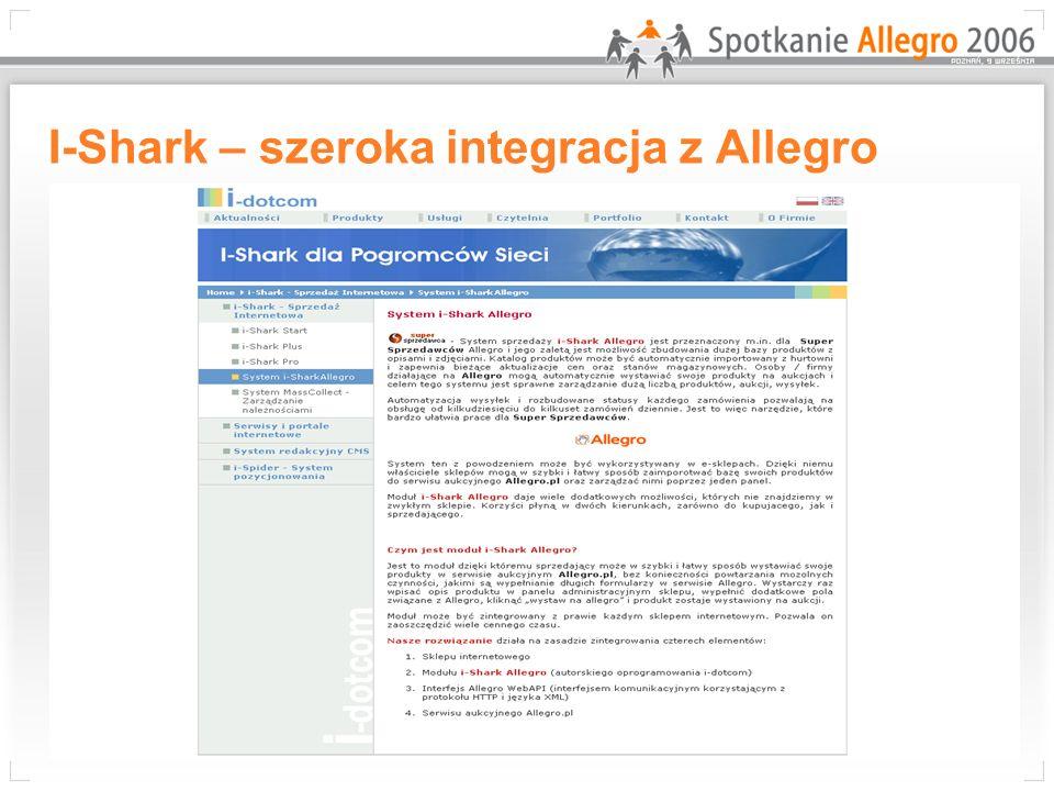 I-Shark – szeroka integracja z Allegro