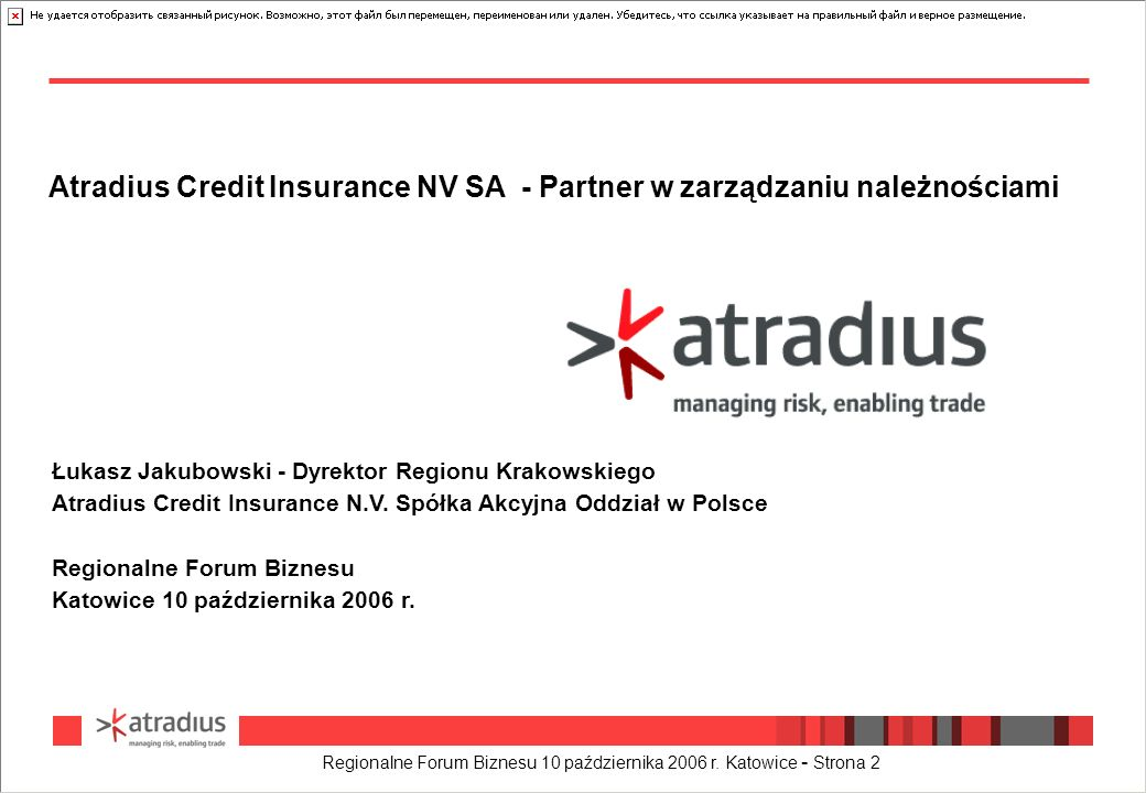Atradius Credit Insurance NV SA - Partner w zarządzaniu należnościami