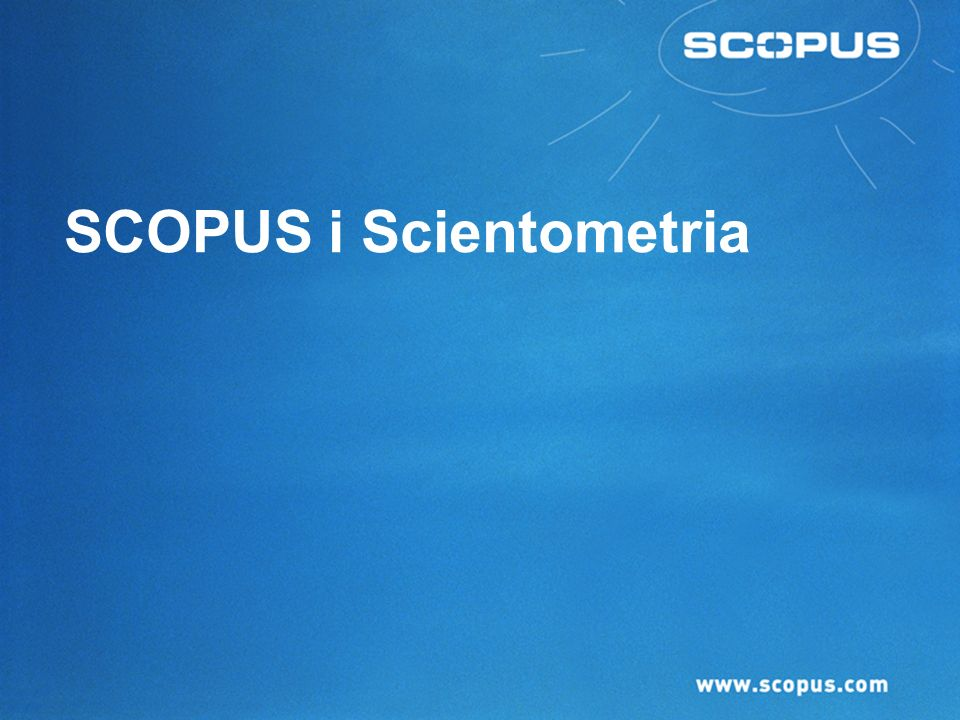 SCOPUS i Scientometria