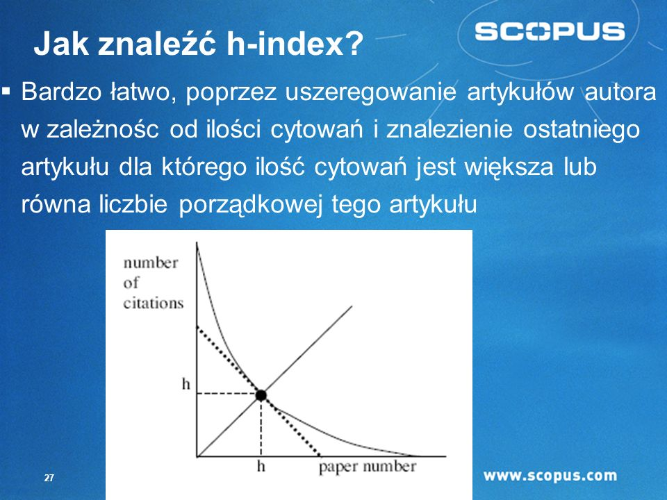 Jak znaleźć h-index