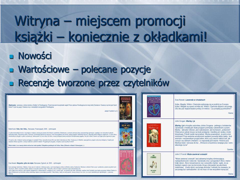 Witryna – miejscem promocji książki – koniecznie z okładkami!