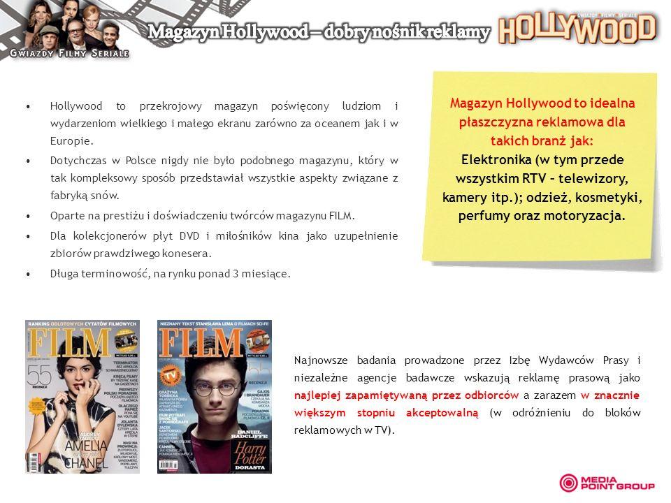 Magazyn Hollywood – dobry nośnik reklamy
