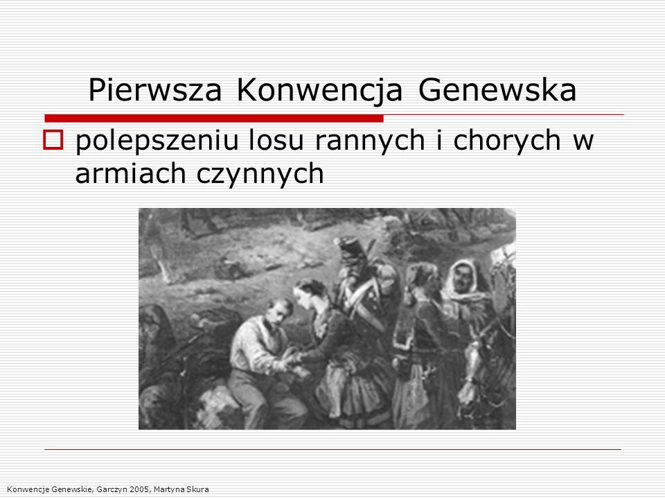 Pierwsza Konwencja Genewska