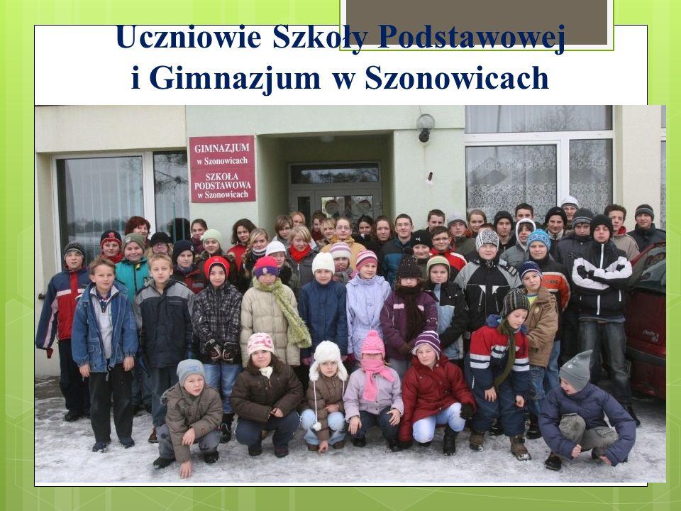 Uczniowie Szkoły Podstawowej i Gimnazjum w Szonowicach
