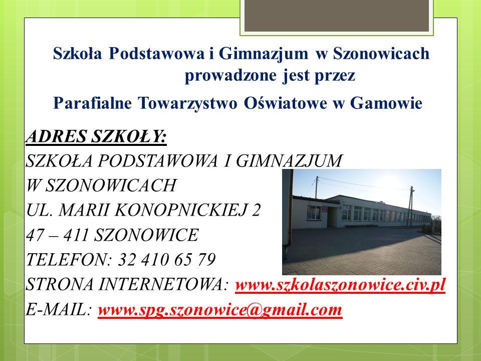 Szkoła Podstawowa i Gimnazjum w Szonowicach