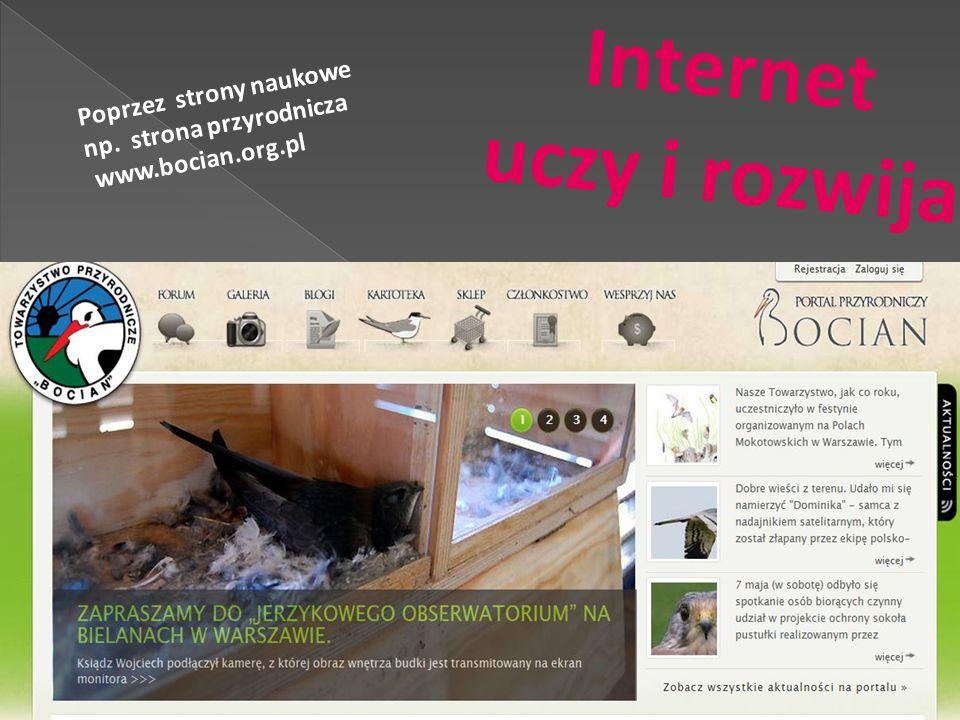 Internet uczy i rozwija