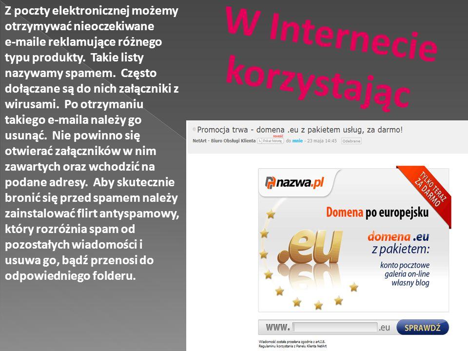 W Internecie korzystając