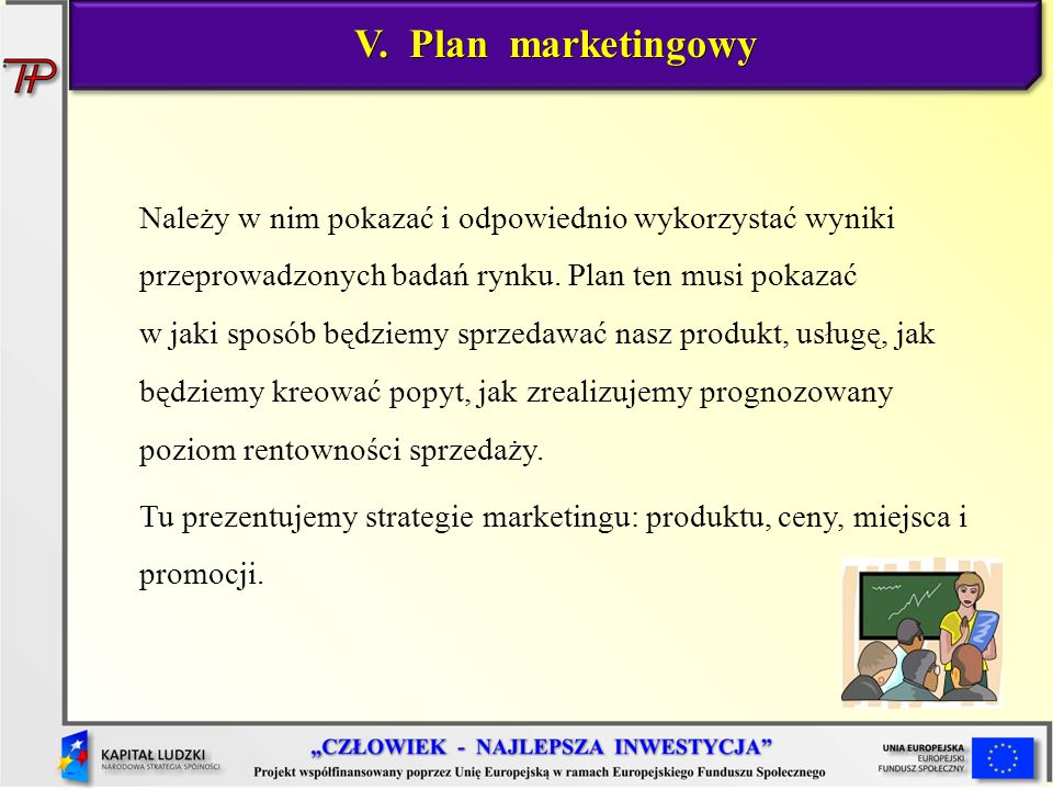 V. Plan marketingowy