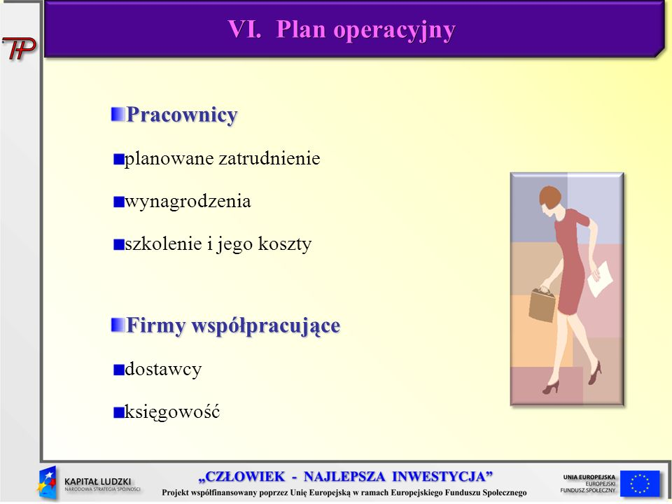 VI. Plan operacyjny Pracownicy Firmy współpracujące
