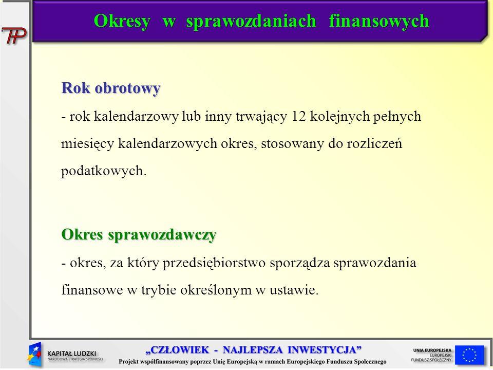 Okresy w sprawozdaniach finansowych