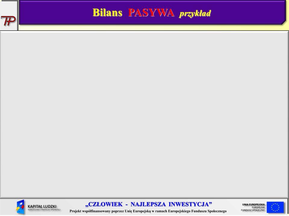 Bilans PASYWA przykład