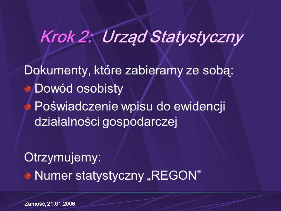 Krok 2: Urząd Statystyczny