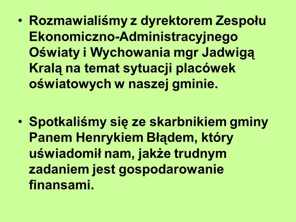 Rozmawialiśmy z dyrektorem Zespołu Ekonomiczno-Administracyjnego Oświaty i Wychowania mgr Jadwigą Kralą na temat sytuacji placówek oświatowych w naszej gminie.