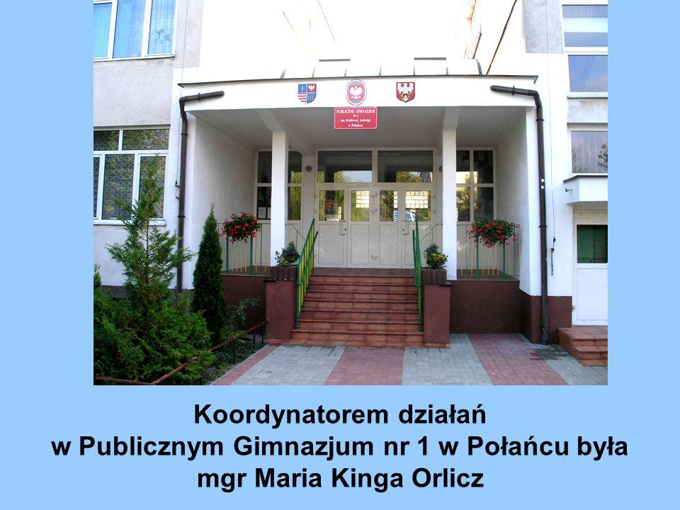 Koordynatorem działań w Publicznym Gimnazjum nr 1 w Połańcu była