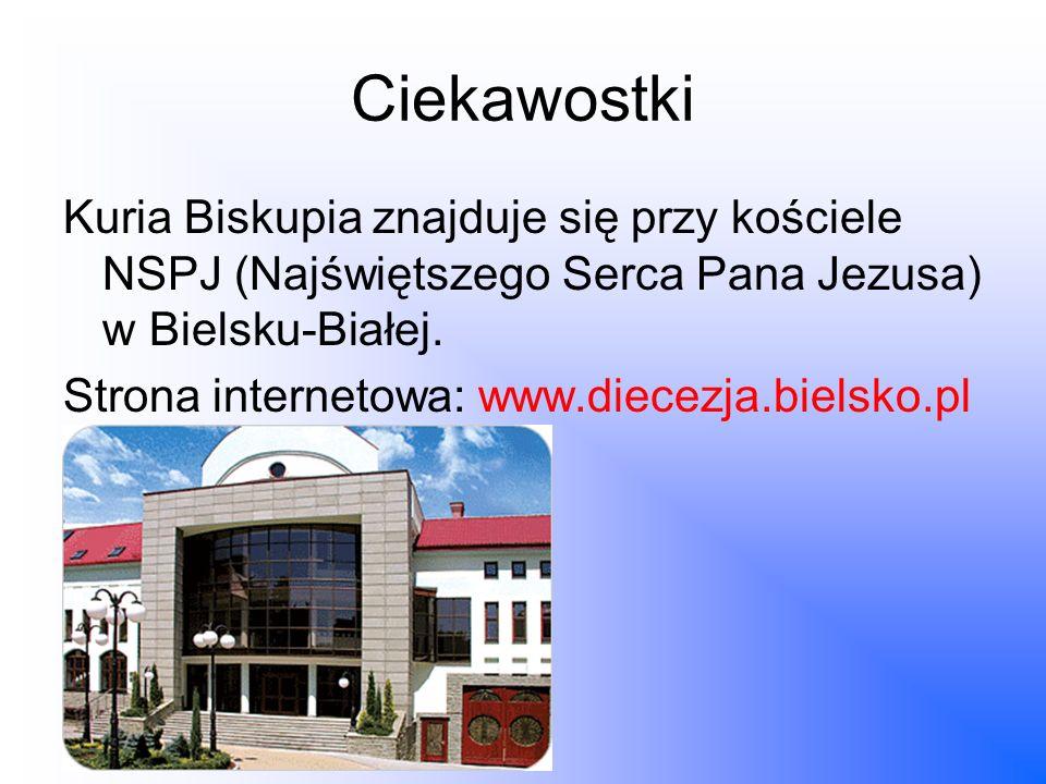 Ciekawostki Kuria Biskupia znajduje się przy kościele NSPJ (Najświętszego Serca Pana Jezusa) w Bielsku-Białej.