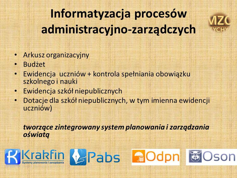 Informatyzacja procesów administracyjno-zarządczych