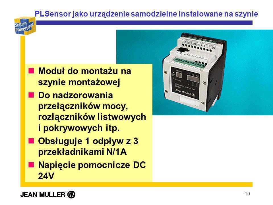 PLSensor jako urządzenie samodzielne instalowane na szynie