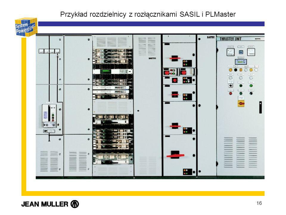 Przykład rozdzielnicy z rozłącznikami SASIL i PLMaster