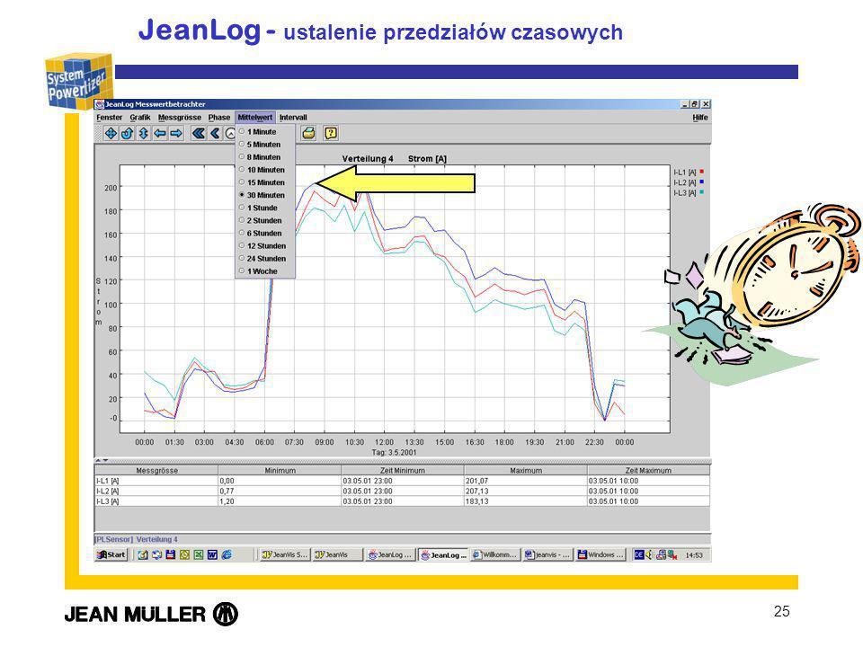 JeanLog - ustalenie przedziałów czasowych