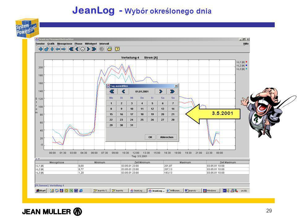 JeanLog - Wybór określonego dnia