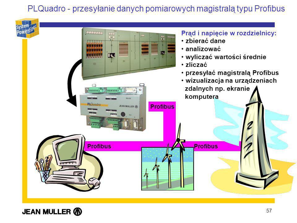 PLQuadro - przesyłanie danych pomiarowych magistralą typu Profibus