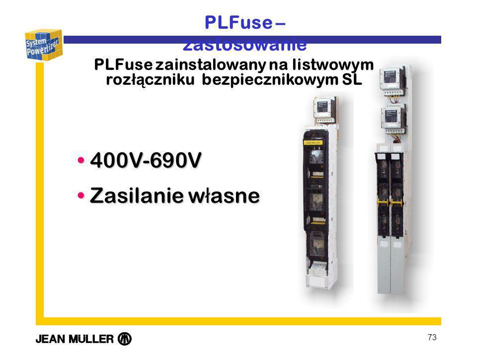 PLFuse zainstalowany na listwowym rozłączniku bezpiecznikowym SL