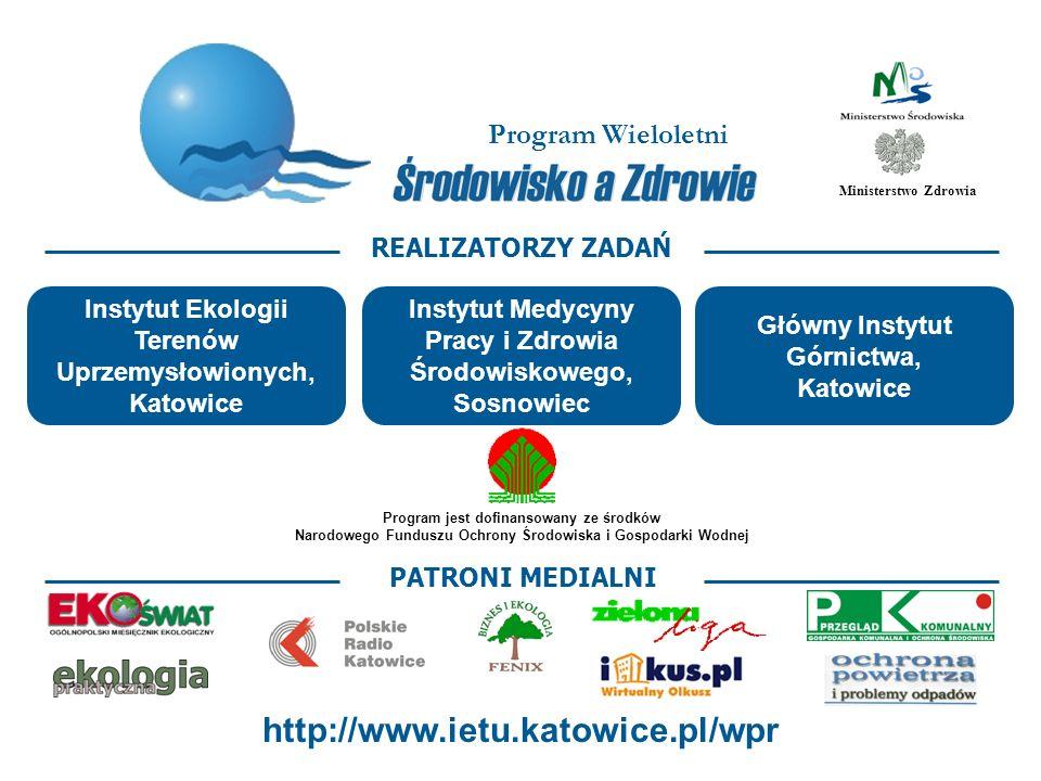 http://www.ietu.katowice.pl/wpr Program Wieloletni REALIZATORZY ZADAŃ