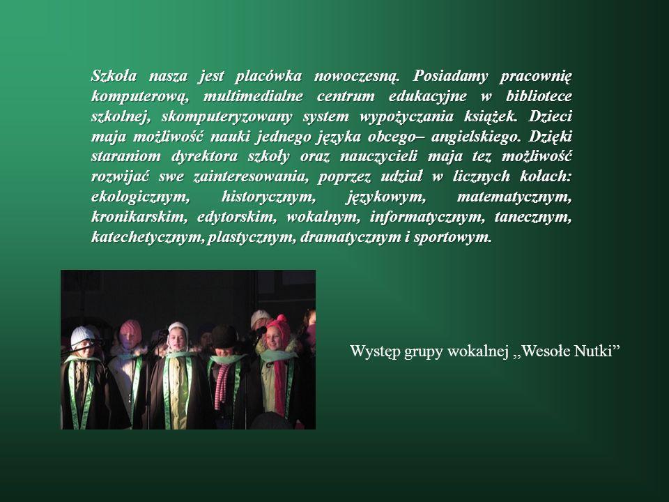Występ grupy wokalnej ,,Wesołe Nutki