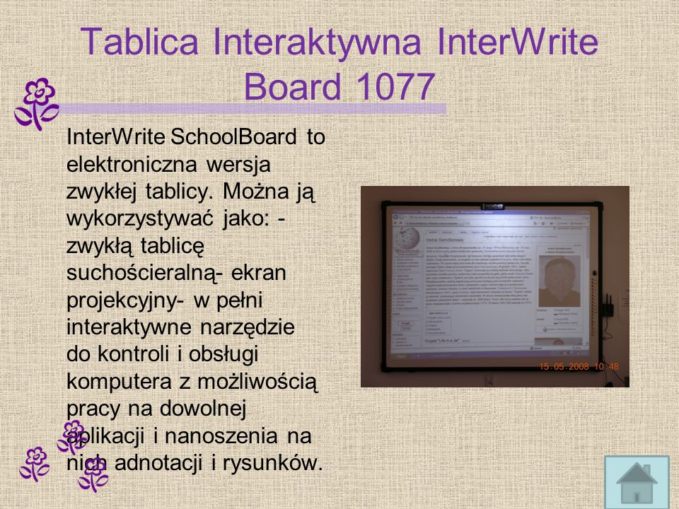 Tablica Interaktywna InterWrite Board 1077