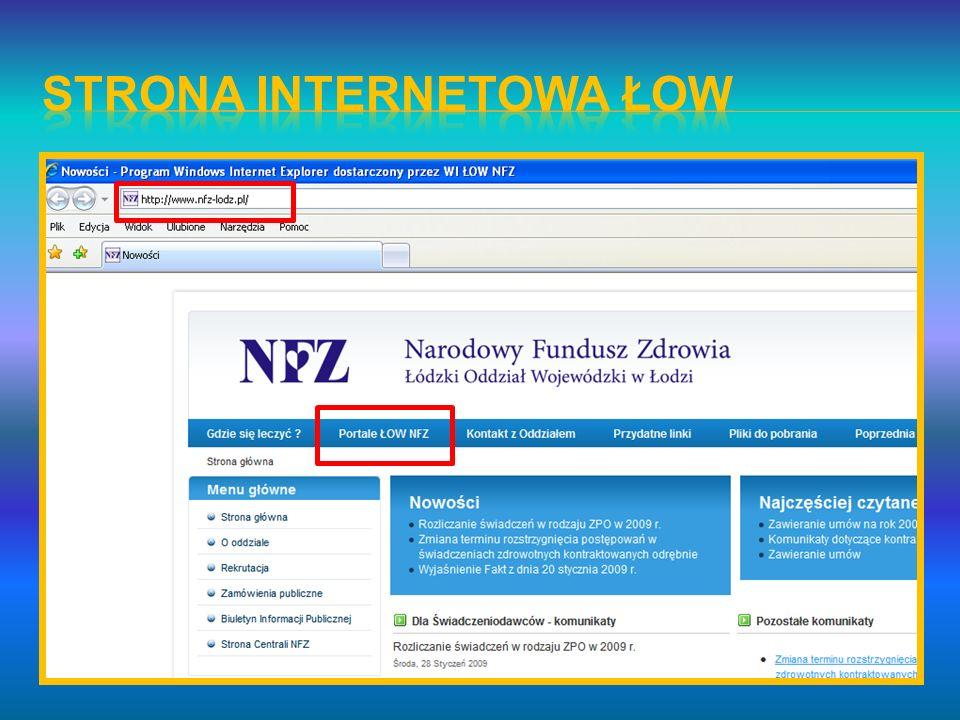 Strona internetowa ŁOW