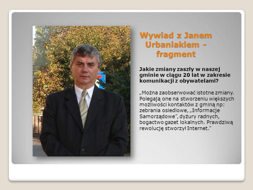 Wywiad z Janem Urbaniakiem - fragment