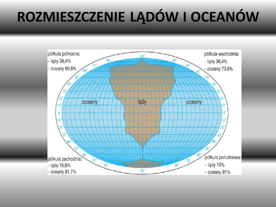 ROZMIESZCZENIE LĄDÓW I OCEANÓW