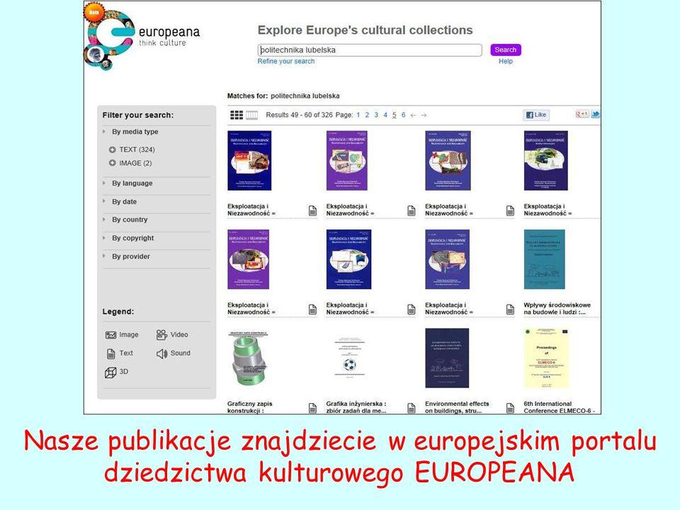Nasze publikacje znajdziecie w europejskim portalu