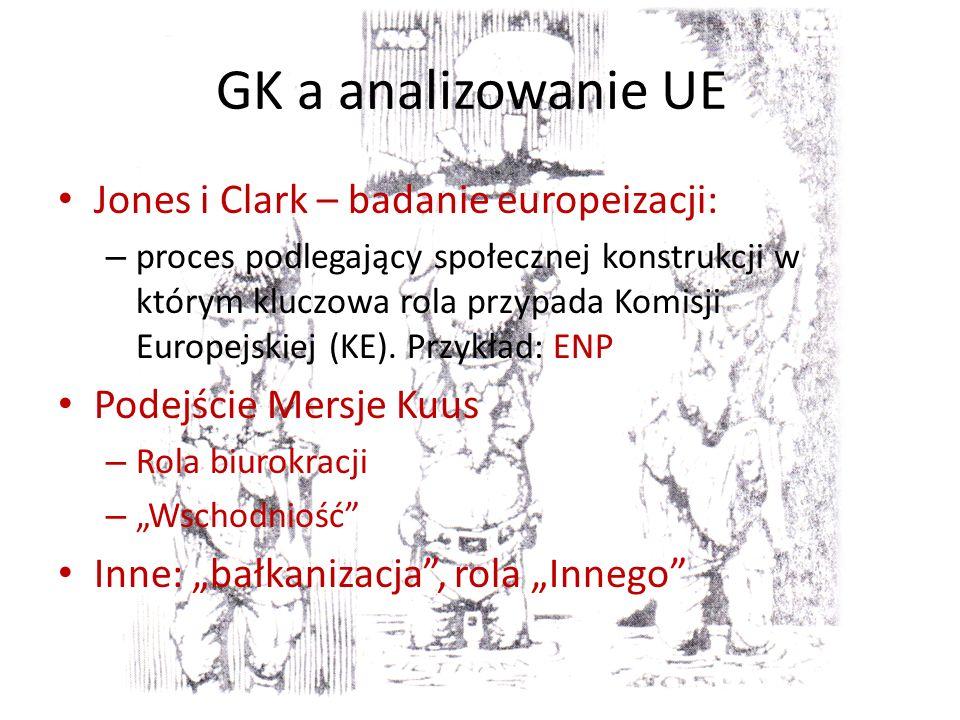 GK a analizowanie UE Jones i Clark – badanie europeizacji: