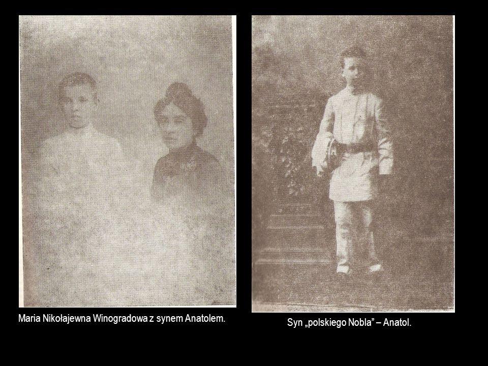 Maria Nikołajewna Winogradowa z synem Anatolem.