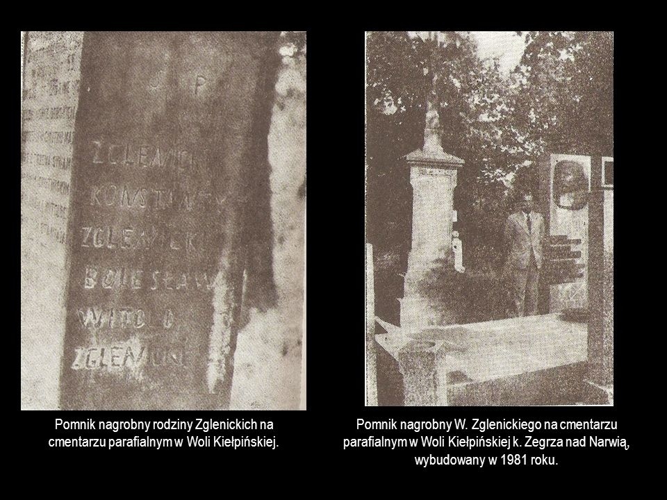 Pomnik nagrobny rodziny Zglenickich na cmentarzu parafialnym w Woli Kiełpińskiej.