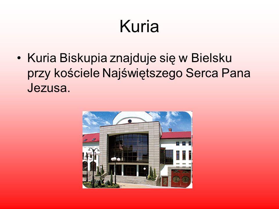 Kuria Kuria Biskupia znajduje się w Bielsku przy kościele Najświętszego Serca Pana Jezusa.